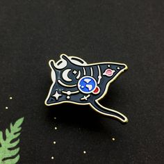 Space Ray Enamel Pin by JohnMoniker on Etsy https://www.etsy.com/listing/545277226/space-ray-enamel-pin