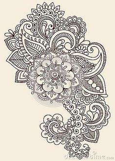 Henna Mehndi Paisley Doodle Vector Design by Blue67, via Dreamstime