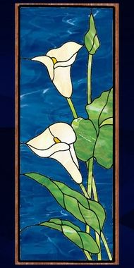 floral calla 31 stained glass panel