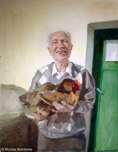 Le grand-père de Simon, oil on canvas, 92 x 73 cm, 2013.