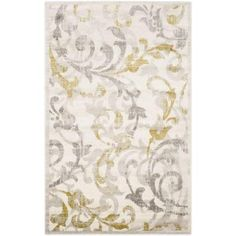 Safavieh Amherst Ivory/Light Grey 5 ft. x 8 ft. Indoor/Outdoor Area Rug-AMT428E-5 - The Home Depot
