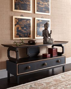 "Shop ""Harmon"" Entertainment Console at Horchow, where you'll find new lower shipping on hundreds of home furnishings and gifts. Home Furnishings, Asian Furniture, Oriental Interior, Asian Cabinet, Asian Inspired Decor, Home Decor, Contemporary Home Decor, Furnishings, Asian Interior"