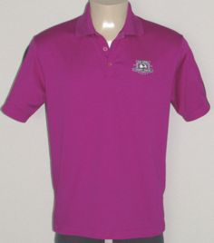 NIKE Polo Golf Shirt size MEDIUM Fit Dry 2010 US OPEN PEBBLE BEACH Berry Purple #NikeGolf