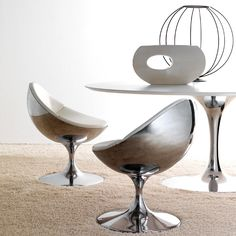 LUNA Chairs |Designer: Paolo Chiantini | Monocoque In Aluminum, Cushion In  Polyurethane Foam