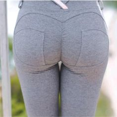 Sexy Push Up Fitness Leggings With Jeans Style