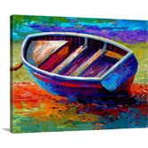 Found it at Wayfair - Riviera Boat III by Marion Rose Painting Print on Wrapped Canvas