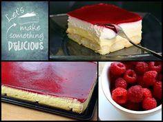 Kuchen ohne Backen - Himbeer-Puddingcreme Schnitten - YouTube