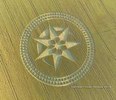 Crop Circle at Stonehenge, Nr Amesbury, Wiltshire. Reported 8th July 2016