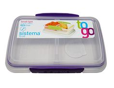 Sistema BPA-Free Small Split Reusable Food Storage Contai... Lunch Boxes, Food Storage Containers, Storage Organization, Packing, Purple, Free, Amazon, Colors, Bag Packaging