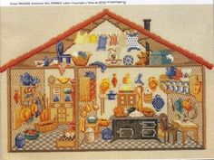 Cross Stitch Doll house Puppenhaus