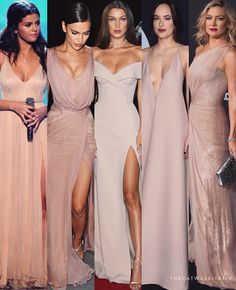😍 4 or 5 ? Thing 1, Pink Gowns, Bridesmaid Dresses, Wedding Dresses, Bridesmaids, Queen, Red Carpet Dresses, Night Outfits, Beautiful Gowns