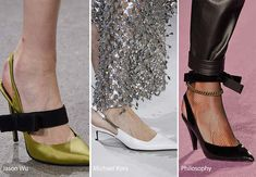Fall/ Winter 2016-2017 Shoe Trends: Slingback Shoes ( КРАСИВЫЕ БОСОНОЖКИ)