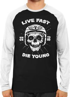 Live Fast - Die Young - 2 - Dhaporshankh Guys Raglans