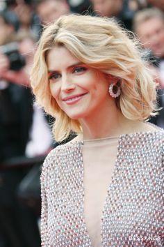 Alice Taglioni Coiffée par Stéphane Bodin, Consultant cannes pour DESSANGE (Photo YAN MAISANI) #Cannes2014 #DESSANGE