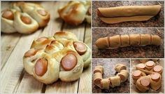 DIY Twisted Hotdog Bun Tutorial