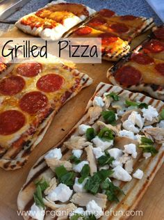 Grilled Pizza and other grilled dinners!