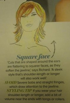 Hair styles for square faces