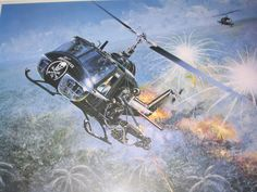 Vietnam Helicopter insignia and artifacts - Aircraft Art