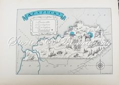 vintage map of Kentucky