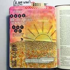 Bible journaling, Revelation 21:4-5 — Arden Ratcliff-Mann