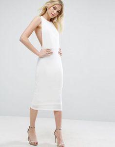 ASOS Blouson Crepe Midi Dress at asos.com c76c8e24c