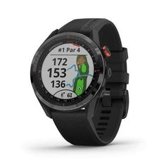 """We've got your game with Approach S62, a premium GPS golf watch that puts critical information from more than 41,000 full-color course maps worldwide on your wrist. It sports a large, easy-to-read 1.3"""" color touchscreen and a style that goes beyond the clubhouse. The PlaysLike Distance feature accounts for uphill and downhill shots, and Virtual Caddie takes into account wind conditions and past swings to select the best club for each shot. AutoShot round analyzer measures and auto-records detect Display Design, Unisex, Golf Sport, Wind Speed And Direction, Golf Gps Watch, Watch Display, Golf Accessories, Watch Faces, Screen Protector"""