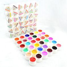 #20204 salida canni nail art gel color de la pintura 36 gdcoco uv kit de uñas de gel