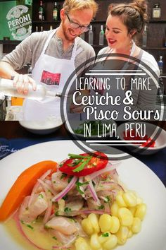 Ceviche and Pisco Sours are the two most iconic (& delicious) Peruvian foods. We learned how to make them both with Lima Gourmet in Peru's most foodie city!