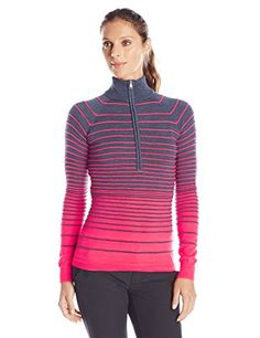6f1ea1447fc0d Spyder Womens Alyx HalfZip Sweater DepthBryte Pink Large   To view further  for this item