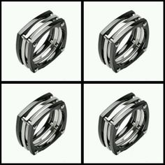 Titanium Men/'s Gorgeous Polished .90 Carat CZ Band Ring Size 9-14