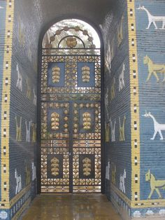 Babylon, Iraq see the dragons at the ISHTAR Gate!!!! The white ones.
