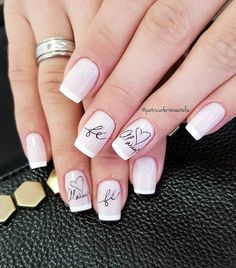 Ideas Gel Pedicure Designs Summer French Manicures For 2019 Pedicure Designs, Manicure And Pedicure, Nail Art Designs, Joy Nails, Happy Nails, French Acrylic Nails, Fall Acrylic Nails, Gelish Nails, Nail Manicure