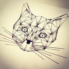 geometric tattoo animal - Hľadať Googlom
