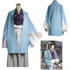 Hakuouki Shinsengumi Kitan Blue Coat Cosplay Costume - EFunlive