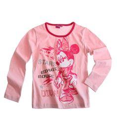 T-shirt disney Minnie enfant manches longues rose Fille par UnCadeauUnSourire.com