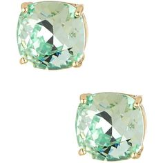 Candela Chyrsolite Swarovski Crystal Stud Earrings (€17) ❤ liked on Polyvore featuring jewelry, earrings, chyrsolite, candela, swarovski crystals earrings, stud earrings, gold tone earrings and swarovski crystal jewelry