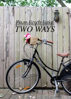 DIY Bicycle Flower Basket - Two Ways #DIY #bicycle