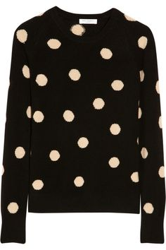 Equipment Sloane polka-dot cashmere sweater...looks soft & comfortable