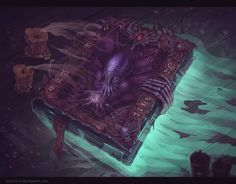 Cthulhu`s Book by Azot2014.deviantart.com on @deviantART