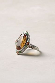 citrine &enamel ring.. gorgeous.