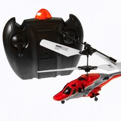 Sky Fly - RC Helicopter - Featuring a super-bright LED on its nose section and trim function for steady flying, the small but perfectly formed RC Sky Fly is a great choice for indoor search and rescue missions! As well as looking super sleek, the RC Sky Fly is small enough to pilot safely indoors without worrying too much about damaging your pelmets! But don't let its diminutive stature fool you; it's still mega stable and really easy to man-oeuvre.