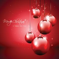 Transparent Merry Christmas Red Ornaments  Cards  With Christmas