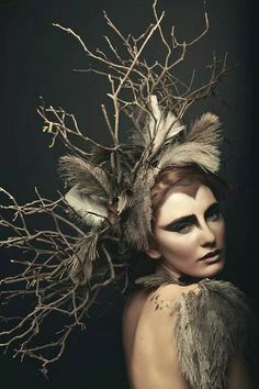 """Owl"" —  Photographer: Natasha Raichel Model: Jade Smith  #darkbeauty #DarkBeautyMag #photography"