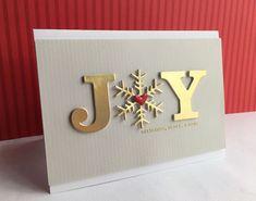SSS Big Joy, Grace Snowflake & Christmas Foliage (see card) Christmas Cards 2018, Christmas Tag, Xmas Cards, Handmade Christmas, Holiday Cards, Holiday Ideas, Greeting Cards, Fun Fold Cards, Cards Diy