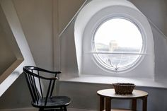 One of the bedrooms has a wonderful circular oeil-de-boeuf window, and a shower room. There are lovely views from this floor across the Slad Valley to the rear of the house.