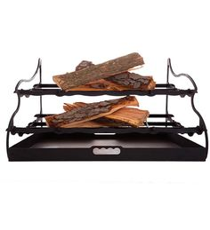 """32"""" Stepflame Two-Tier Fireplace Grate Fireplace Grate, Fireplace Tools, Fire Basket, Fireplace Accessories, Electric Fireplace, Fireplaces, Liberty, Awesome Things, Shelter"""