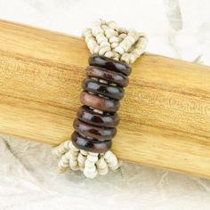 Wooden Ring Beaded Bracelet - City Buddha Store