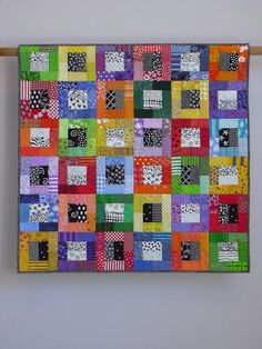 Color Blocks wall quilt. $1,125.00, via Etsy.