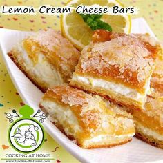 What better sweet treat during warm summer months than these chilled, lemon cream cheese bars? These bars are&… Desserts Lemon Cream Cheese Bars Lemon Desserts, Köstliche Desserts, Lemon Recipes, Dessert Recipes, Summer Desserts, Health Desserts, Sweet Desserts, Snack Recipes, Lemon Cream Cheese Bars