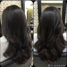 Ideas Hair Cuts Long Layers Ombre For 2019 Long Curly Hair, Long Hair Cuts, Long Hair Short Layers, Layers For Thick Hair, Long Layerd Hair, Black Hair Layers, Black Hair Cuts, Medium Hair Styles, Curly Hair Styles
